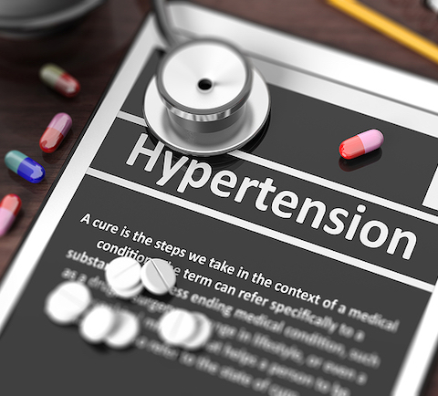 bigstock Tablet with hypertension on 110156615